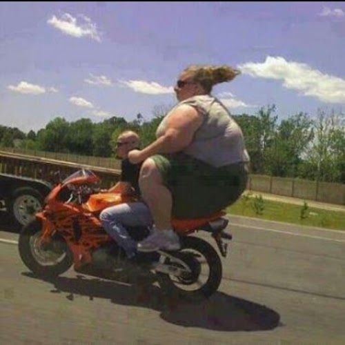 funny stuff!!!!! Hahahahahha!! I'm surprised the bike didn't flip back :-D