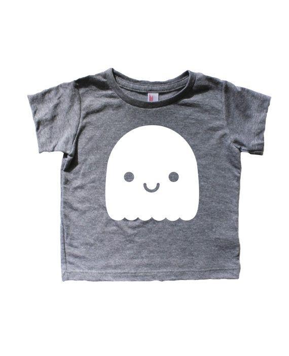 Kawaii Ghost Tee Kids halloween shirt Baby peuter door MochiKids