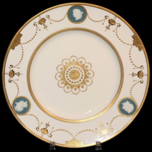 12 Minton Neoclassical Pate Sur Pate Plates Gold Encrusted | eBay