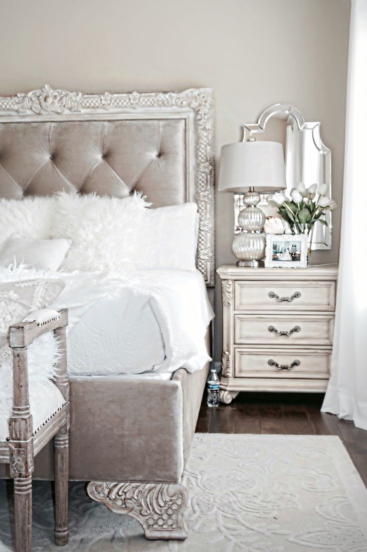 Stylish Bedroom Inspiration and Nightstand Decor ...
