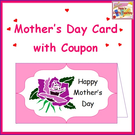 Coupon cards for mom