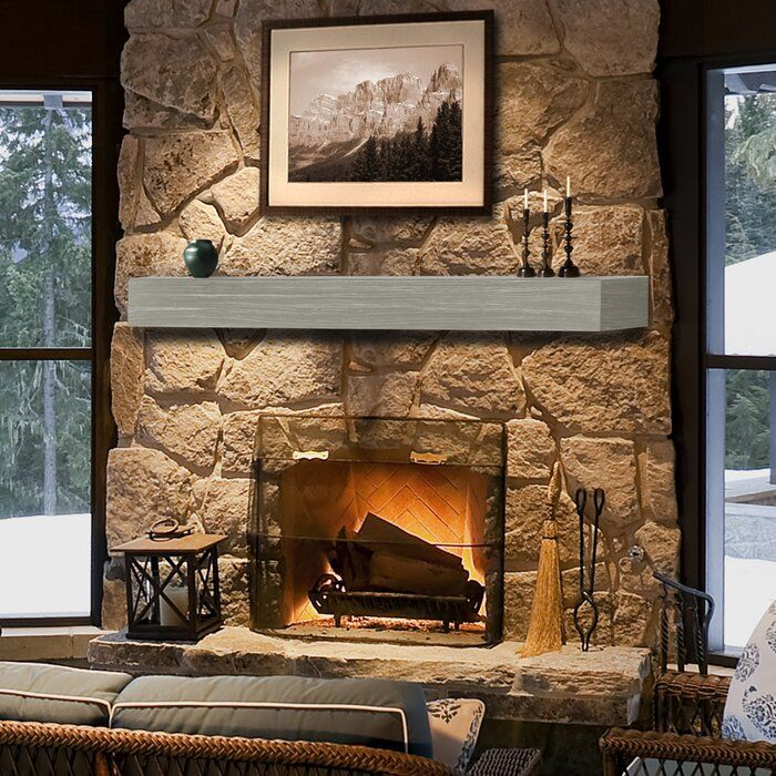 Zachary Non Combustible Fireplace Shelf Mantel In 2020 Fireplace