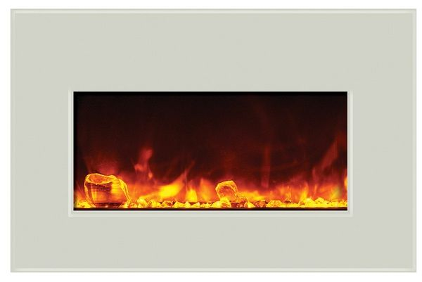 Amantii INSERT-30-4026-WHTGLS white glass electric fireplace insert; $1155 cdn.