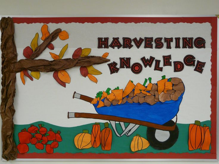 Seasonal Bulletin Board Ideas | Harvesting Knowledge | MyClassroomIdeas.com