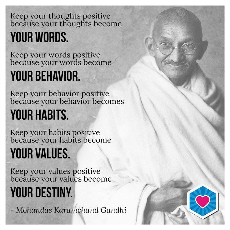 Inspiring words from Mahatma Ghandi