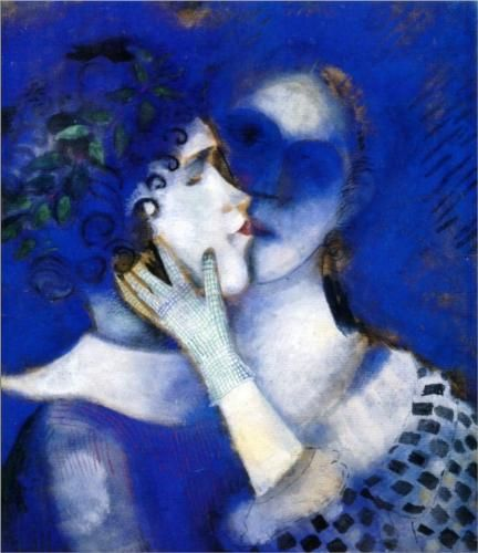 Blue lovers - tableau de Marc Chagall (1887-1985) peintre biélorusse naturalisé français.