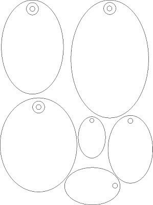 Oval tags