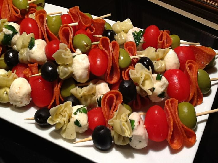 Antipasto Skewers Bocconcini and toy box skewers recipes — dishmaps