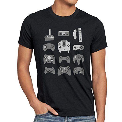 style3 Gamepad T-shirt da uomo controller videogiochi console, Dimensione:XL;Colore:Nero