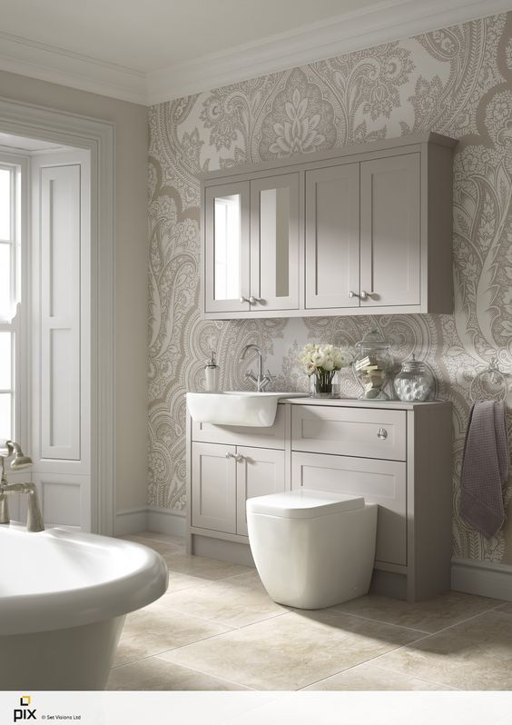 The Natural Light Is Key To This Feminine Bathroom Idea. Soft Muted Tones  With An Part 83