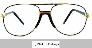 Vintage 70's School Teacher Metal Clear Lens Glasses 227A