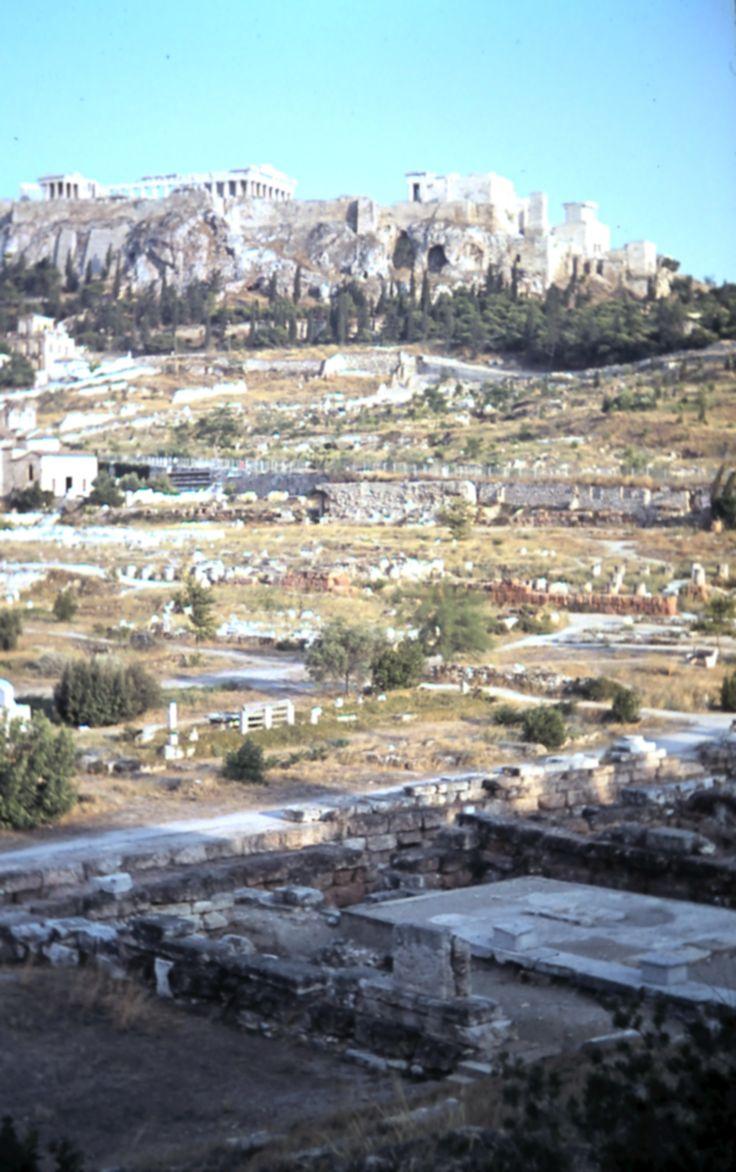 View across the Agora to the Acropolis and the Parthenon.