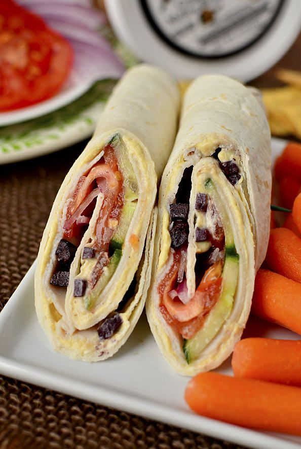 Mediterranean Turkey Wrap Recipe