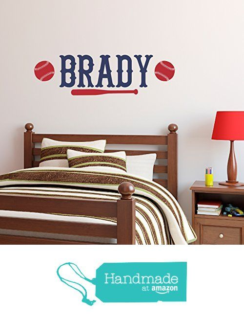 Boys Baseball Wall Decal Personalized Name