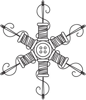 Stitch a delicate flurry with this needle-and-thread snowflake! Downloads as a PDF. Use pattern transfer paper to trace design for hand-stitching.
