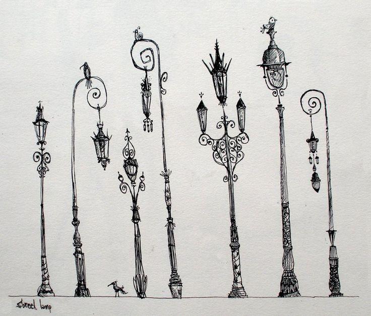 Parisian Streetlamps, Sketchbook , with thanks to sharackula, Resources for Art Students CAPI ::: Create Art Portfolio Ideas at milliande.com , Art School Portfolio Work