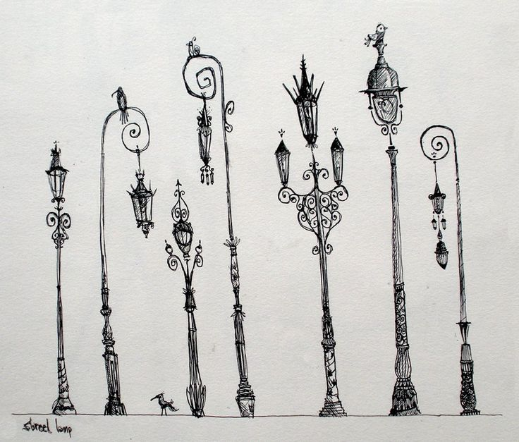 Parisian Streetlamps, Sketchbook , with thanks to sharackula, Resources for Art Students CAPI ::: Create Art Portfolio Ideas at milliande.com , Art School Portfolio Work