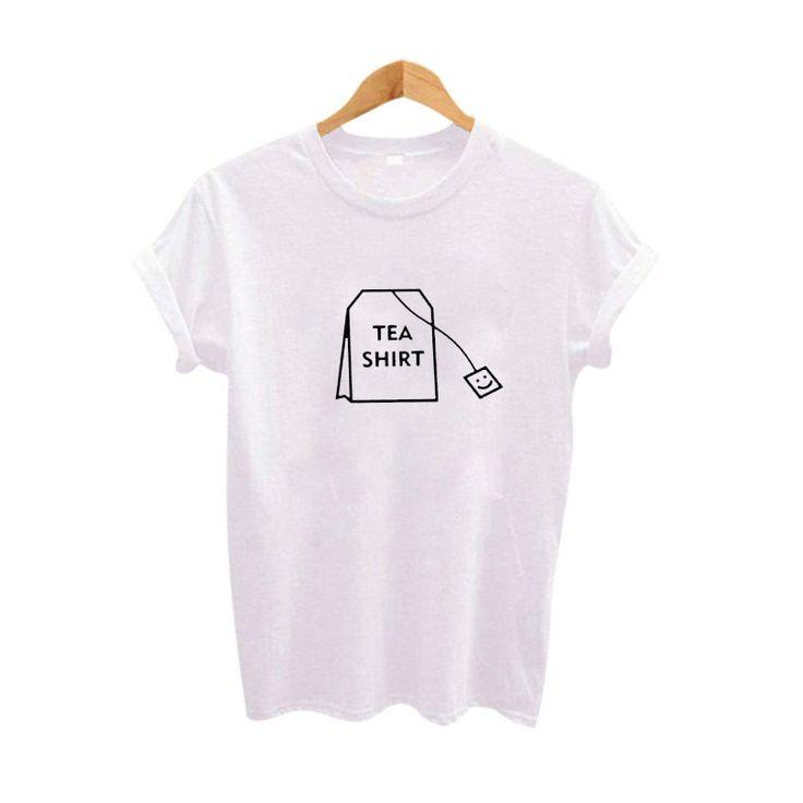 Kaufen Humor Tee Shirt Graphic tees Frauen Kleidung 2017 Sommer Lustige t-shirts…