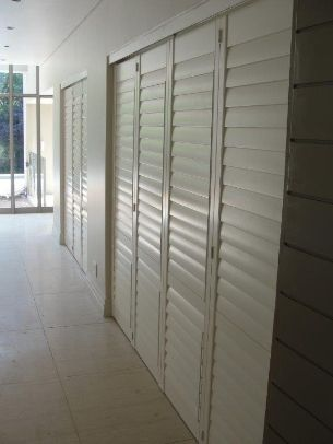 Interior shutter doors