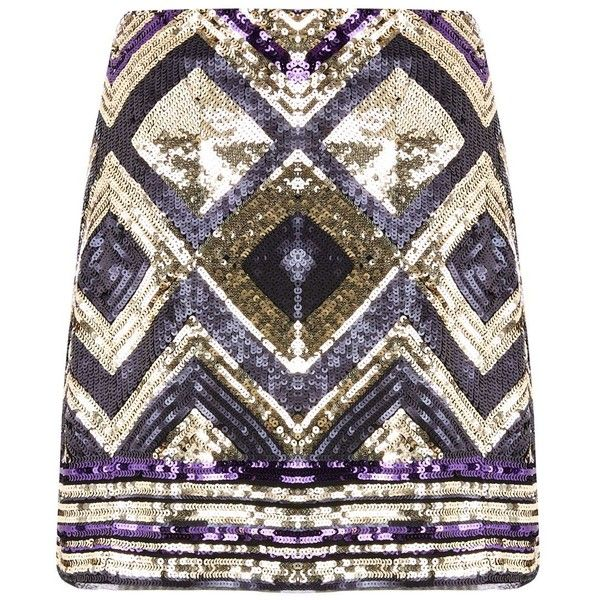 Oasis Deco Aztec Sequin Skirt ($52) ❤ liked on Polyvore featuring skirts, women skirts, knee length a line skirt, geometric skirt, sequin a line skirt, aztec sequin skirt and aztec print skirts