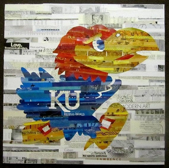 Jayhawk Collage by SianHardie on Etsy, $300.00