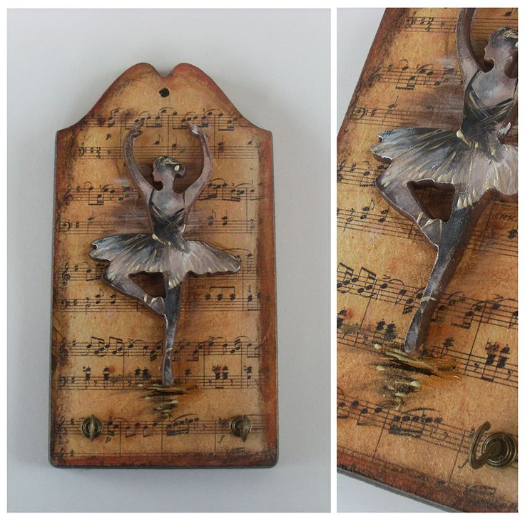 BALLERINA- Wooden Key Holder - Totally Handmade, Hand carved and Handpainted by allabouthandicraft on Etsy