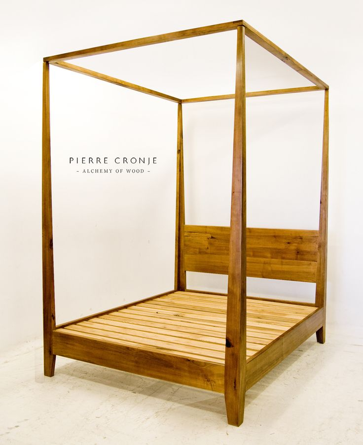 A Pierre Cronje queen size four poster bed in Yellowwood