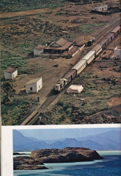 he train from Djibouti town heads for the southern border, end of the line after Somalis cut the rails to Addis Ababa, Ethiopia's capital.Djibouti's economy was derailed, losing half a million dollars a month in customs duties from the railway, which carried 60 percent of Ethiopia's foreign trade.