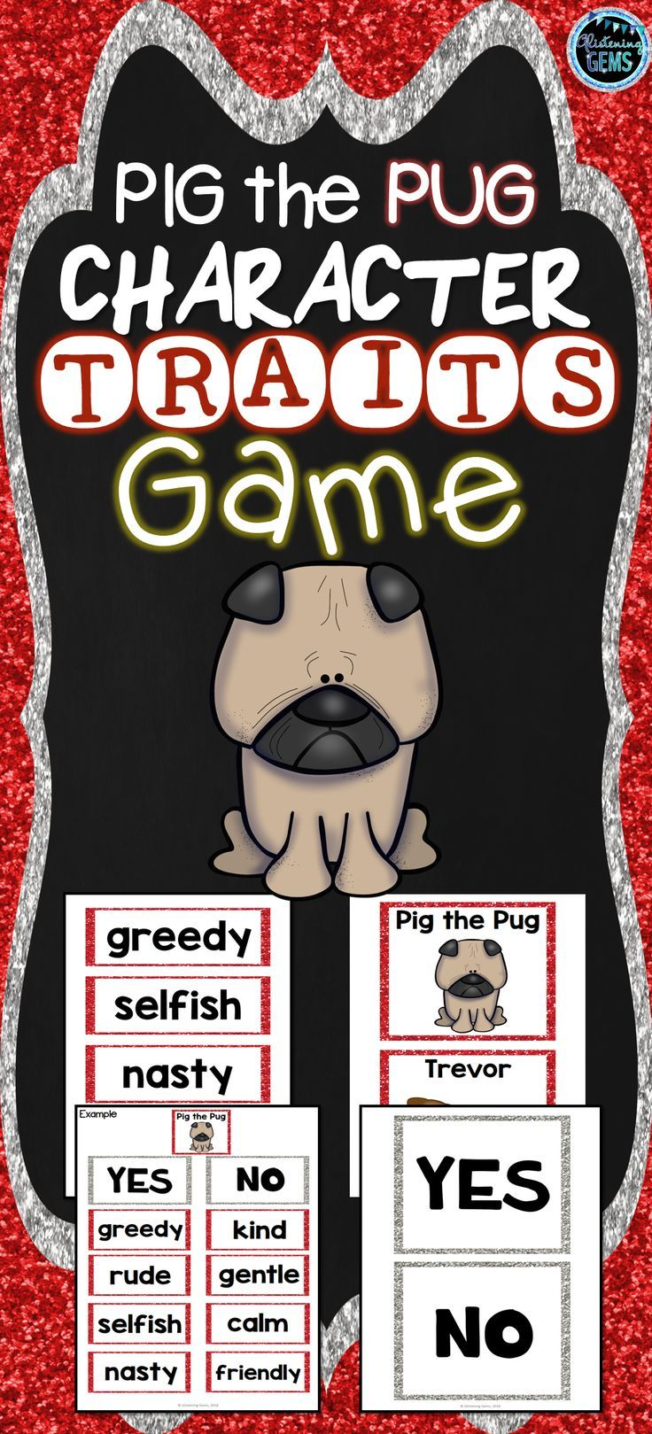Pig The Pug Character Traits Game Character Trait Life Skills