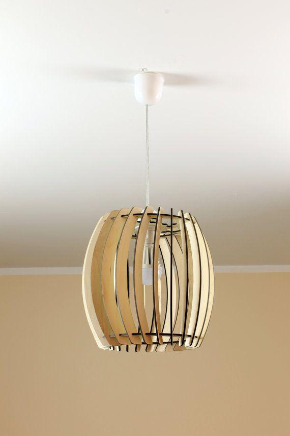 Houten Lamp / Eco-vriendelijke / Accent voor thuis / Decoratieve plafondlamp / Houten Lampenkap op Etsy, 33,40€