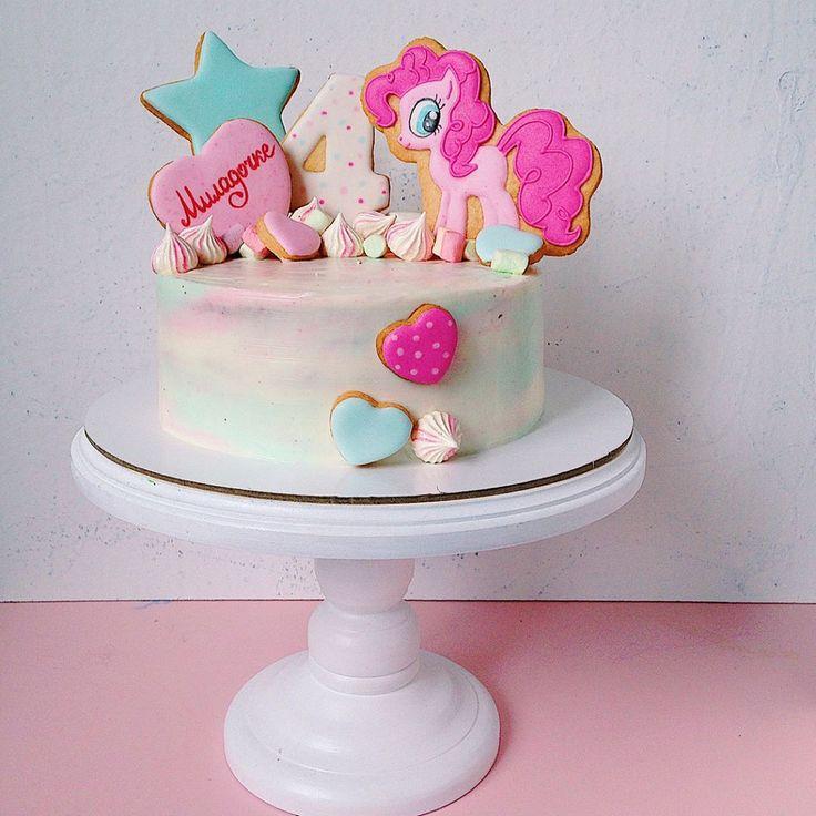 Торт с пряниками Пинки Пай  Торт для девочки cake with gingerbread cookies