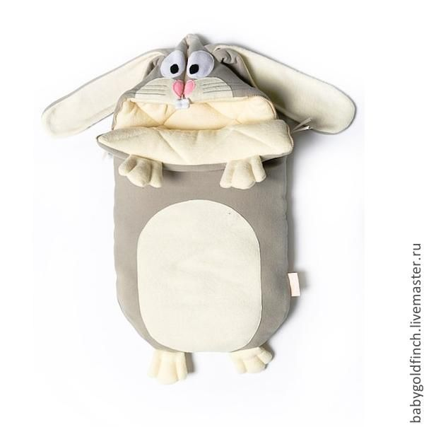 Купить Конверт для новорожденного зайка на выписку и в коляску - зайка, зайчик, зайчонок, конверт, багз банни