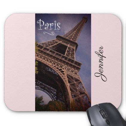 Paris Eiffel Tower Famous Landmark Photo Custom Mouse Pad - cyo diy customize unique design gift idea
