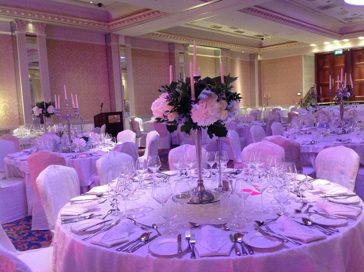 Our Great Room being set for a wedding #weddingflowers #wedding #dublinwedding
