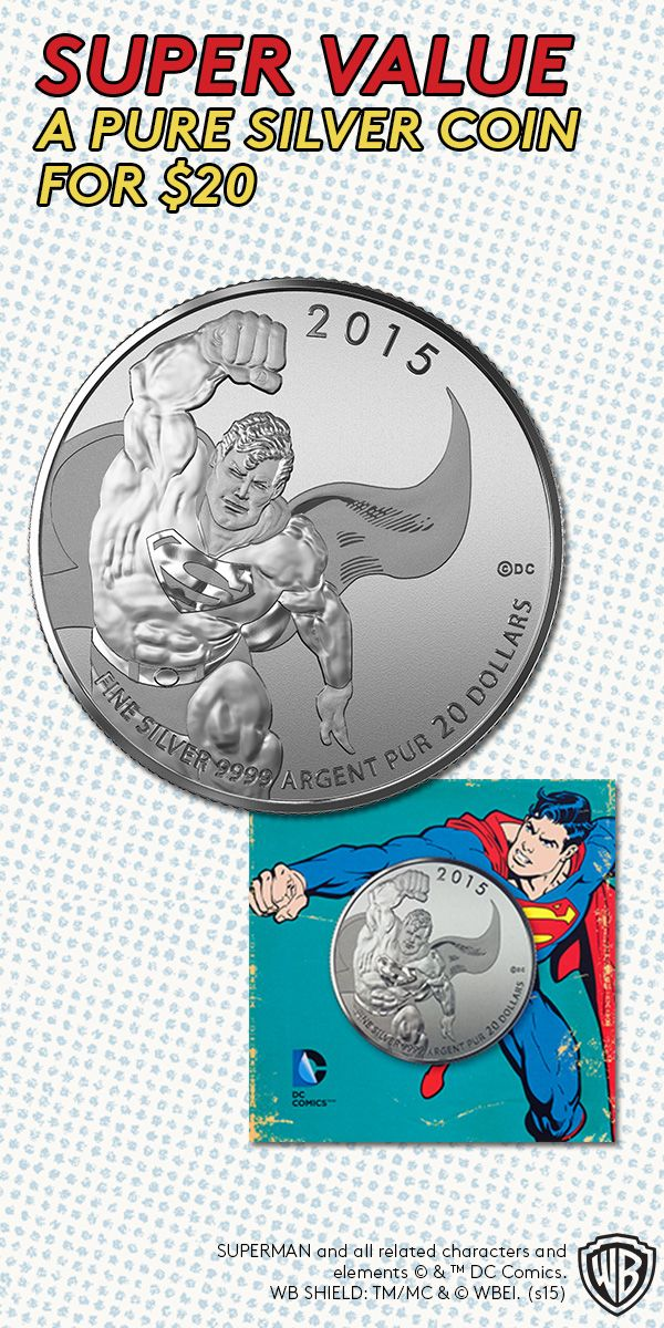 Super Value -- A Pure Silver Coin for $20! Crafted from 99.99% pure silver, this $20 coin is a great opportunity to add the most iconic super hero to your collection