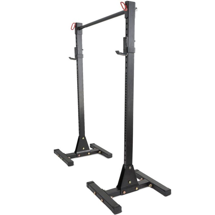 HD 2x3 Upright Squat Stand Weight Rack w/ Pull Up Bar