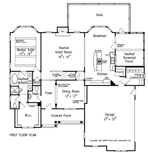 Springmill by frank betz main floor ga floor plans for Frank betz floor plans