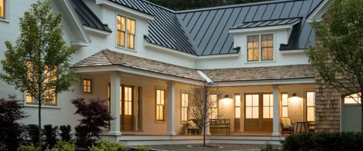 Farmhouse Metal Porch Roof