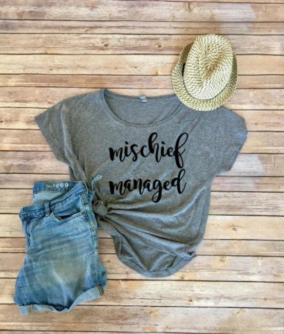 Mischief Managed vêtements - Harry Potter Fan - chemise femme - gris - voyage Disney Dolman - Harry Potter - femmes - voyage Universal Studios