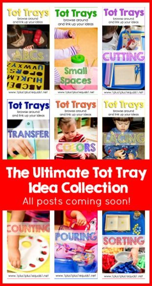 Tot Tray Ideas ~ a massive collection of Tot Tray ideas to use with your toddler!