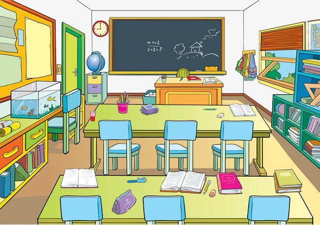 Cartoon School Classrooms School Clipart Classrooms Goldfish