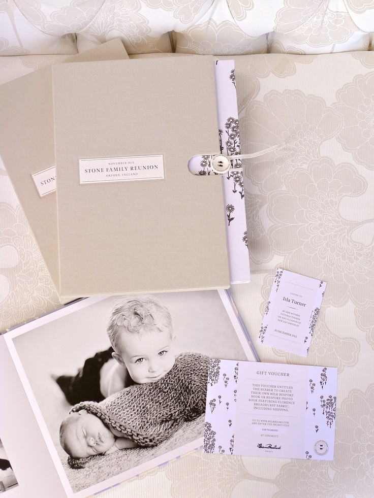 MILK Bespoke Book with hardcover slipcase and gifting card. Both with beautiful Florence Broadhurst print.