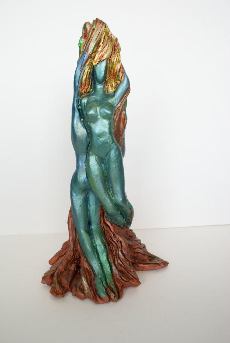 "Ceramic sculpture ""Magic Spring"", modern art, unique artwork, abstract style, home decor by Dellatola on Etsy"