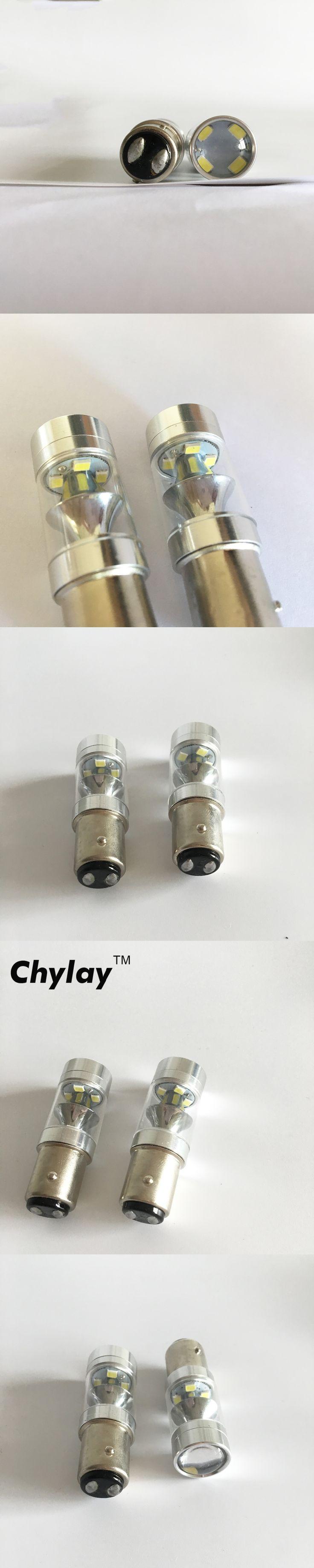 2x  1157 100W LED 360-Degree Car Brake light Backup  Light bulb White DC 12V-24V