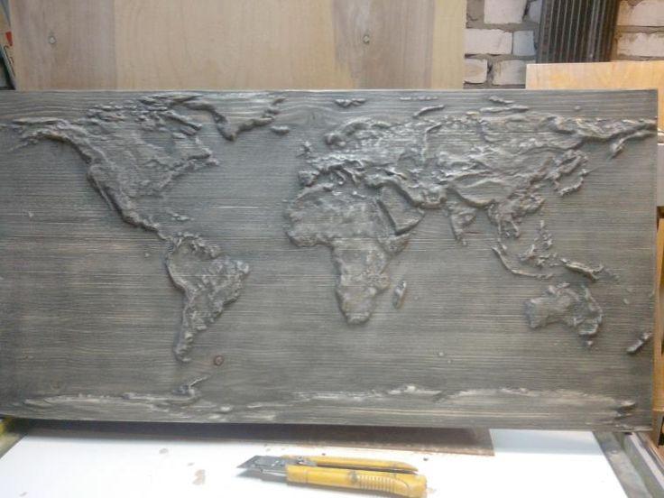 """Рельефное панно """"Карта мира"""" - Ярмарка Мастеров - ручная работа, handmade"""