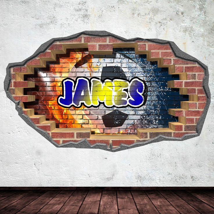 Personalised football graffiti wall sticker. Comes in 4 different sizes.  http://www.ebay.co.uk/itm/372112589571
