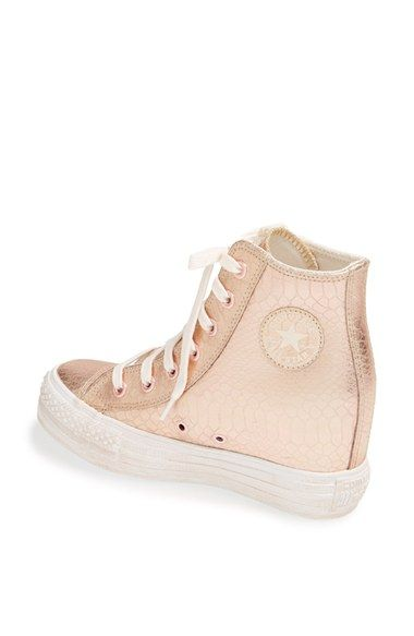 Chuck Taylor® All Star® 'Platform Plus' Hidden Wedge Leather High-Top Sneaker (Women) | Nordstrom