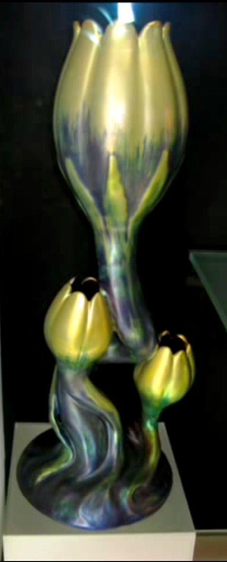 Zsolnay Tulip Vase