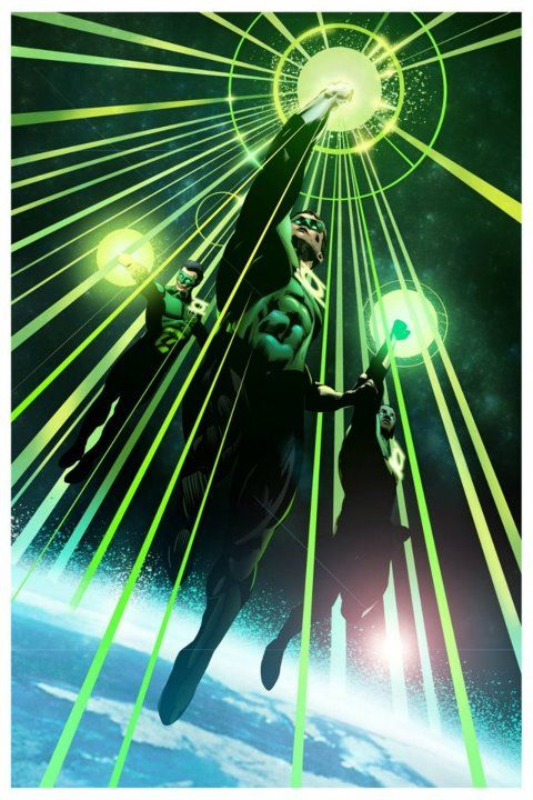 Happy 2.8.14 Day! Sector 2814 is protected by the Earth Green Lanterns (Guy Gardner and Simon Baz not pictured)