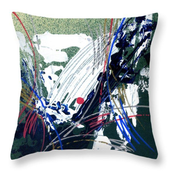 Throw Pillow featuring the painting Amazing Abstract- II by Rupam Shah